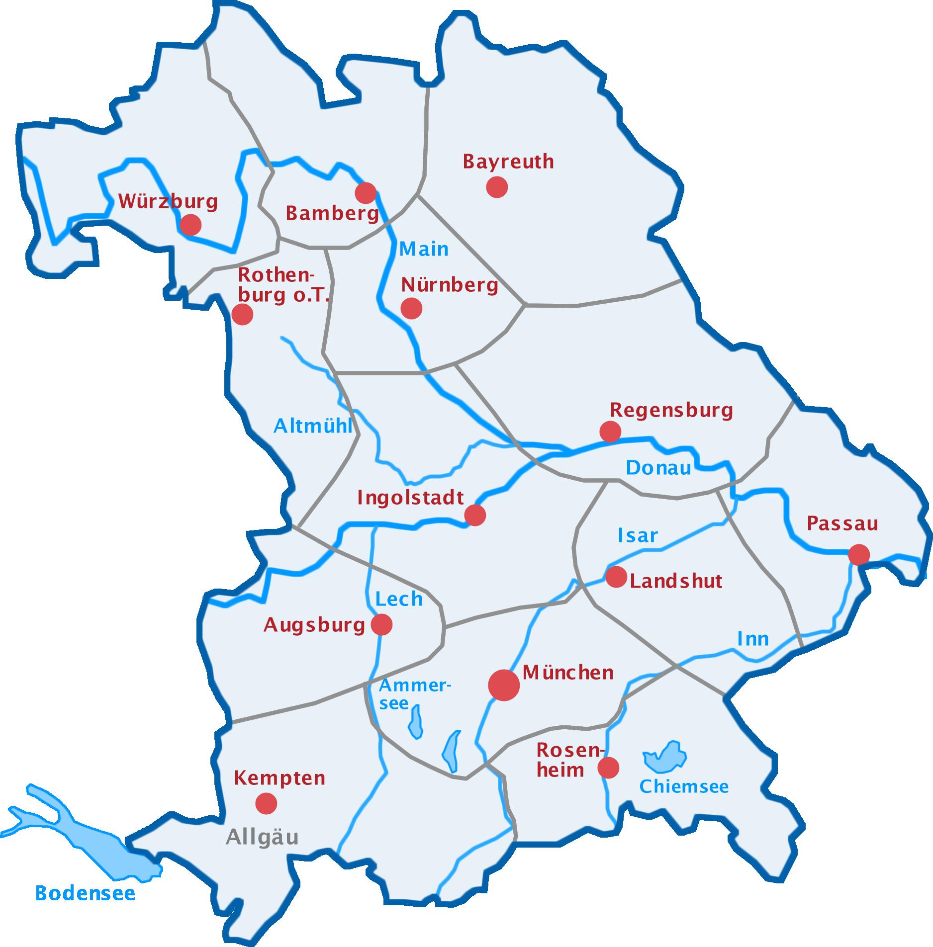 Karte Bayern.Karte Bayern 400 Prozent Senden Brandmarcom