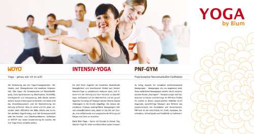 Yoga-by-Blum Infomaterial